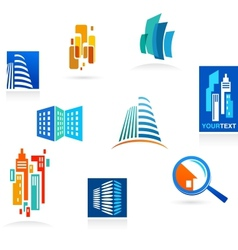 Collection of real estate icons and elements vector image vector image
