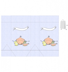 decorative bag with dishes vector image