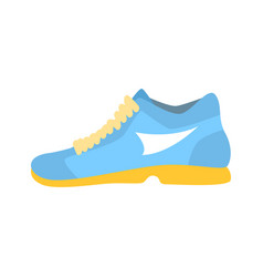 light blue athletic shoe cartoon vector image