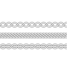 macrame crochet weaving braid knot vector image