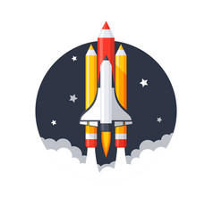 pencil shuttle launch vector image vector image