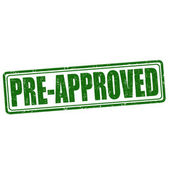 pre-approved stamp vector image