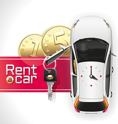 Rent a Car on the Red Carpet vector image vector image