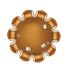 round meeting table vector image