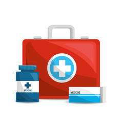 color healthcare pharmaceutical drugs and vector image