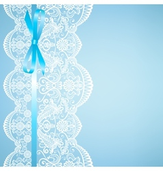 lace on blue background vector image vector image