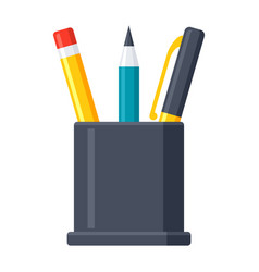 pencil stand icon vector image