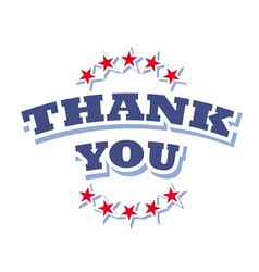 thank you logo isolated on white background vector image vector image