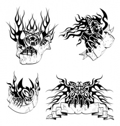 tribal big cats with labels vector image vector image