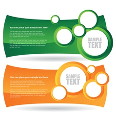 two circle banner backgrounds vector image