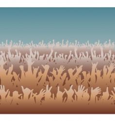 big crowd vector image vector image