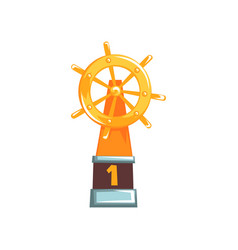 Cartoon of ship s steering wheel vector