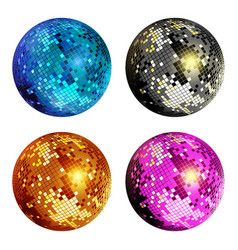 disco ball set vector image vector image