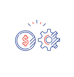 gear wheel financial plan money investment vector image