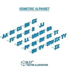 Isometric alphabet and font vector image vector image
