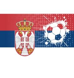 Serbian football vector image vector image
