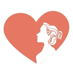 woman with heart card vector image