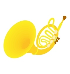 Brass pipe icon cartoon style vector image