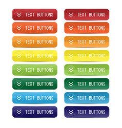 buttons color included for web design vector image