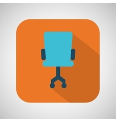 chair blue wheel blue with orange background vector image vector image