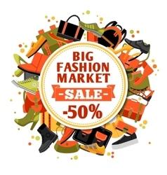 Fashion Footwear Sale vector image