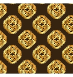 Geometric design seamless pattern in art nouveau vector image vector image