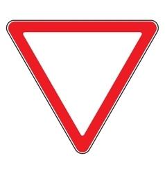 give way sign vector image vector image