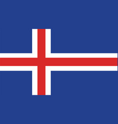 iceland flag for independence day and infographic vector image