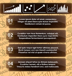 Modern infographic template with charts and space vector image vector image