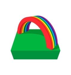 Rainbow cartoon icon vector image
