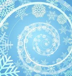 Winter snow storm spiral background vector image