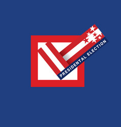 2020 united stated presidential election vote vector
