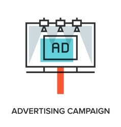 advertising campaign vector image