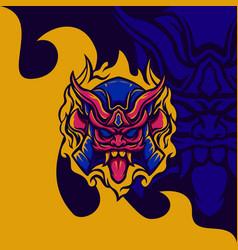 akuma ronin mascot vector image