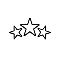 Award icon stars logo in line style vector