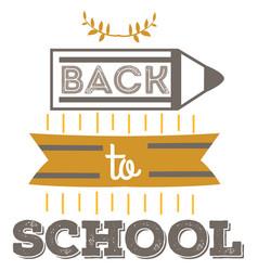 back to school emblem education logo sign vector image