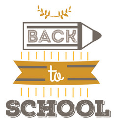 back to school emblem education logo sign with vector image