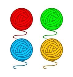 Balls of yarn vector