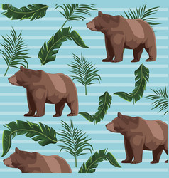 Bears drawing patterns background vector