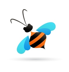 bee icon and element vector image vector image