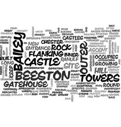 Beeston castle text word cloud concept vector