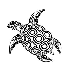 Black turtle vector