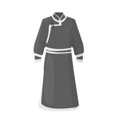 Blue bathrobe of mongoliansfragment nominalnog vector