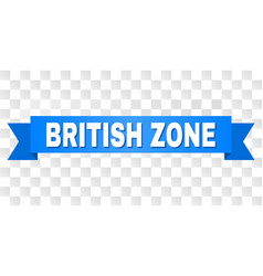 Blue ribbon with british zone title vector