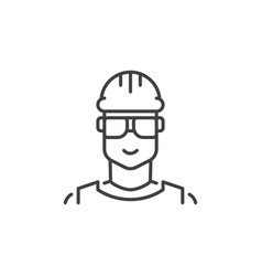 builder concept outline icon male worker vector image