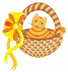 Cat in Basket vector