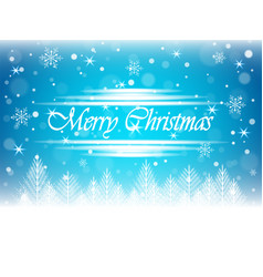christmas snowfall and winter forest vector image