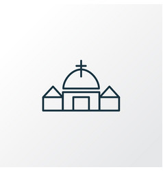 church icon line symbol premium quality isolated vector image