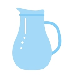 Clay jug isolated on white vector