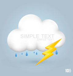 cloud and rain with thunder vector image